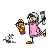 「出てこいや」ゴキブリをリズミカルにおびき出すお母さん →